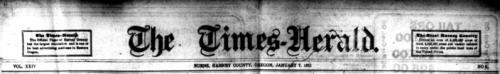 Burns Times-Herald masthead