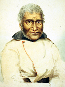 Portrait of native Hawaiian 'John Coxe' by Paul Kane, 1847