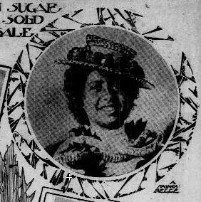 1905 newspaper photo of Native Hawaiian woman in straw hat