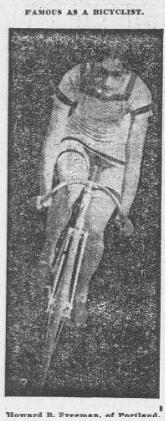 1900 newspaper image of champion cycle racer from Portland