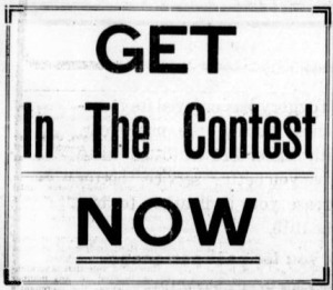 Text reads: Get in the contest now.