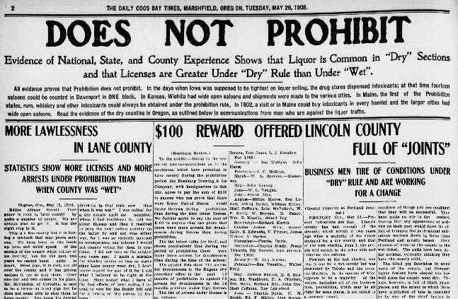 This article draws on statistical evidence to argue that prohibition laws don't work.