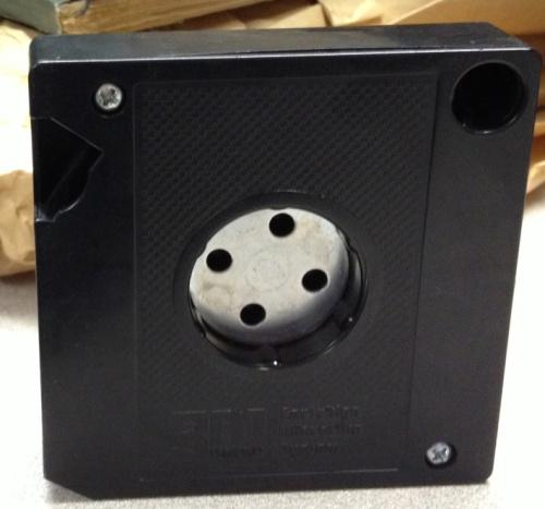 Back of the microfilm cartridge