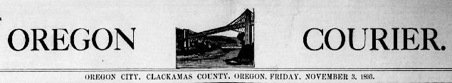 Masthead from the Oregon Courier
