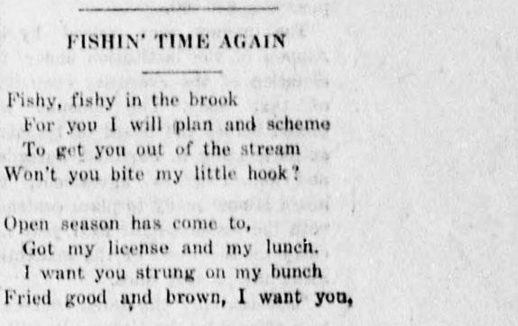 Fishing Poem - Times