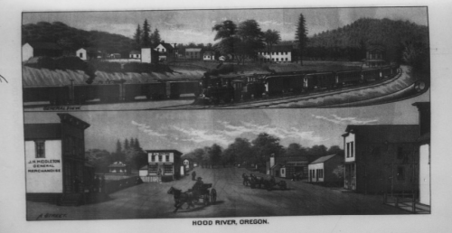 Hood River Illustration - the West Shore
