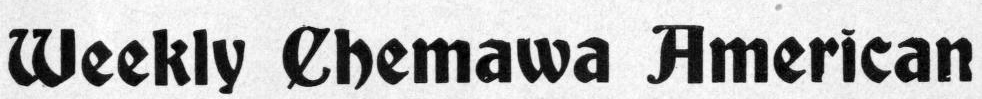 Weekly Chemawa American masthead